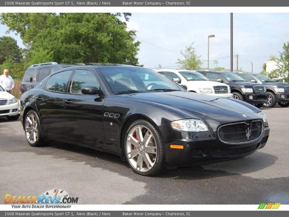 2008 maserati quattroporte sport gt s nero black nero photo 1. Black Bedroom Furniture Sets. Home Design Ideas