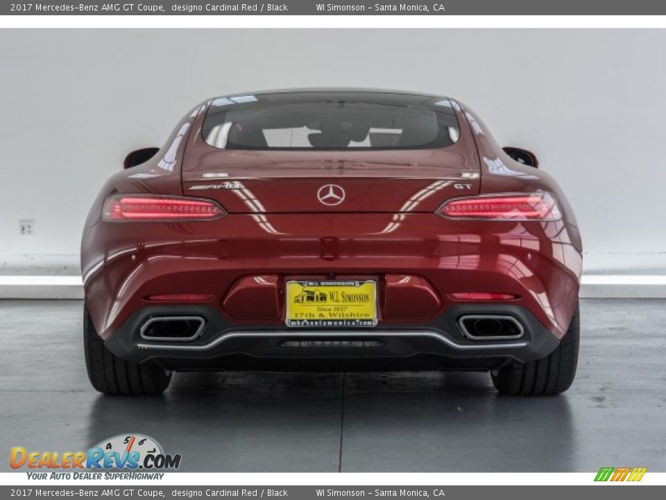 2017 Mercedes-Benz AMG GT Coupe designo Cardinal Red / Black Photo #4