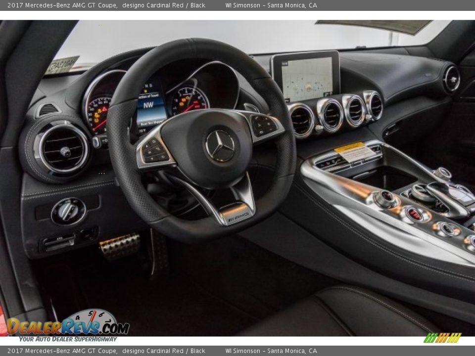 2017 Mercedes-Benz AMG GT Coupe designo Cardinal Red / Black Photo #6