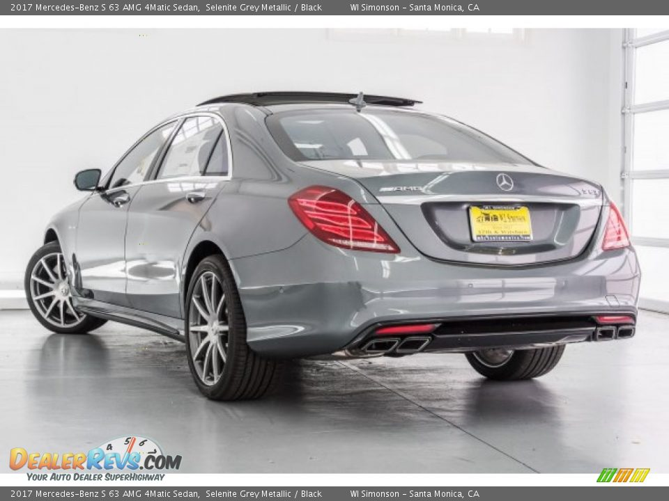 2017 Mercedes-Benz S 63 AMG 4Matic Sedan Selenite Grey Metallic / Black Photo #3