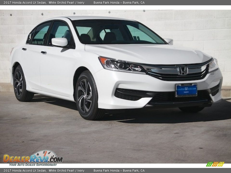 2017 Honda Accord LX Sedan White Orchid Pearl / Ivory Photo #1