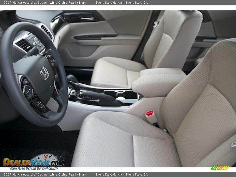 2017 Honda Accord LX Sedan White Orchid Pearl / Ivory Photo #8