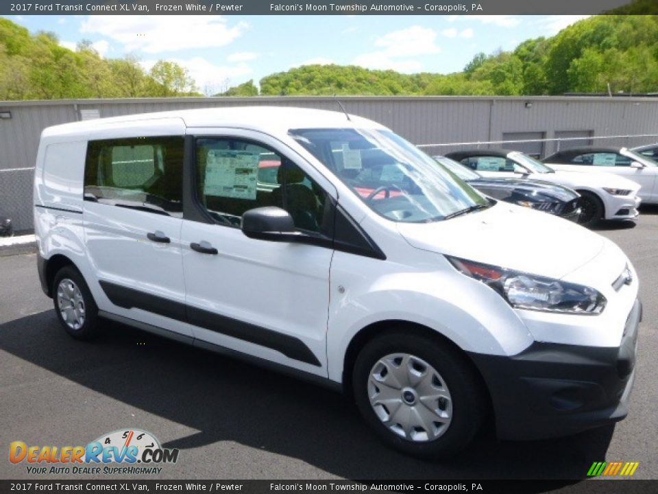 2017 Ford Transit Connect XL Van Frozen White / Pewter Photo #3