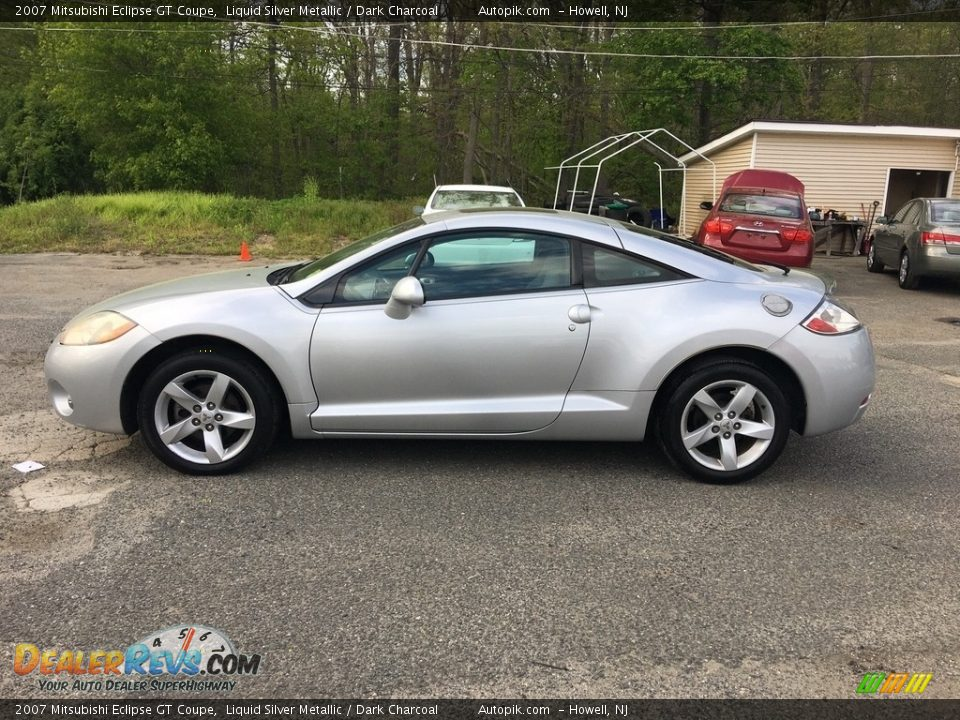 2007 Mitsubishi Eclipse GT Coupe Liquid Silver Metallic / Dark Charcoal Photo #9