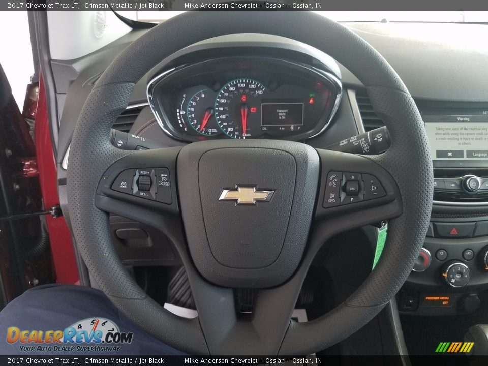 2017 Chevrolet Trax LT Crimson Metallic / Jet Black Photo #16