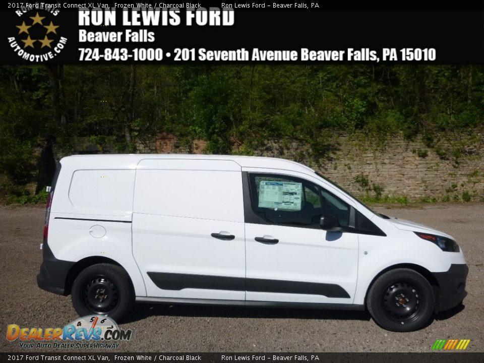 2017 Ford Transit Connect XL Van Frozen White / Charcoal Black Photo #1