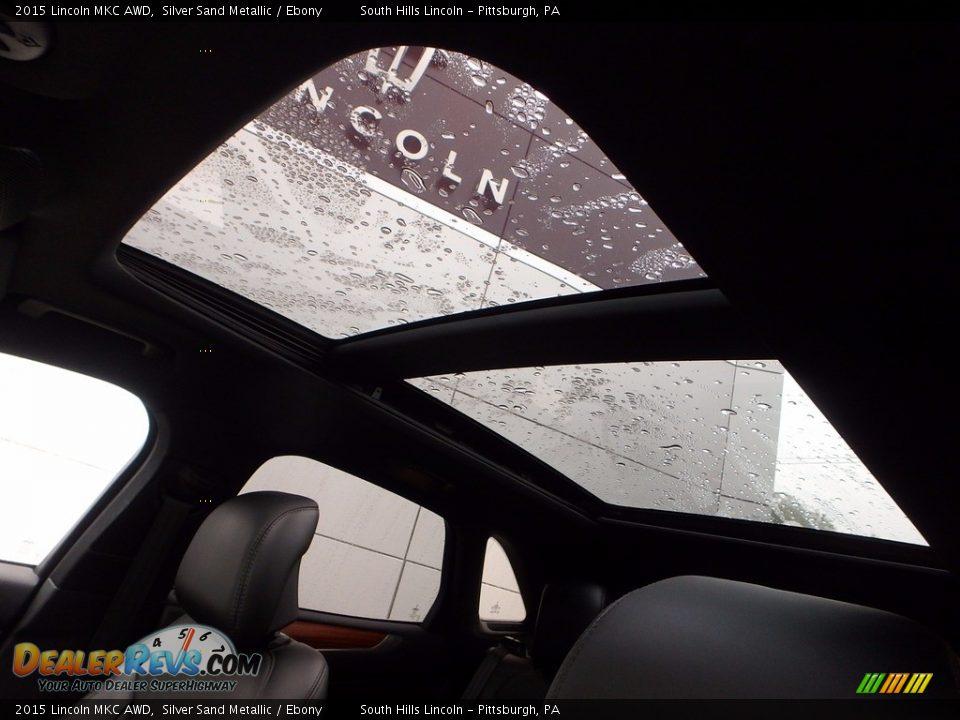 2015 Lincoln MKC AWD Silver Sand Metallic / Ebony Photo #20