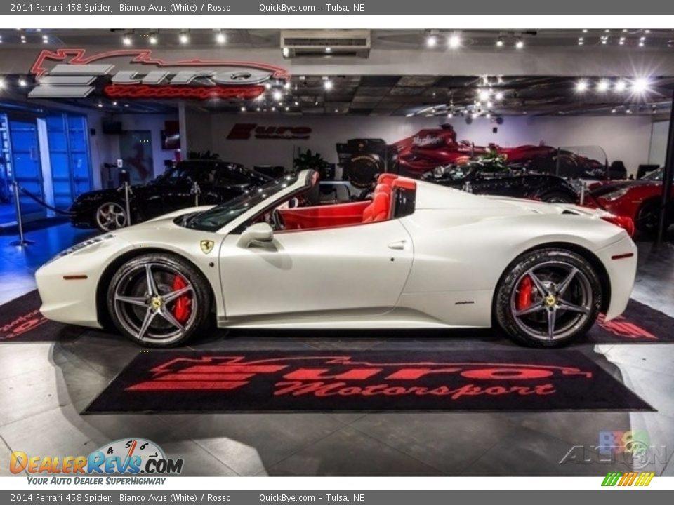 2014 Ferrari 458 Spider Bianco Avus (White) / Rosso Photo #2