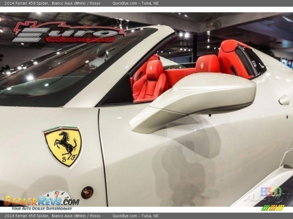 2014 Ferrari 458 Spider Bianco Avus (White) / Rosso Photo #6