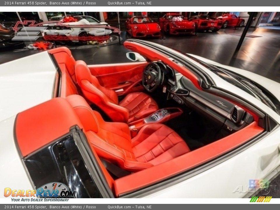 2014 Ferrari 458 Spider Bianco Avus (White) / Rosso Photo #12