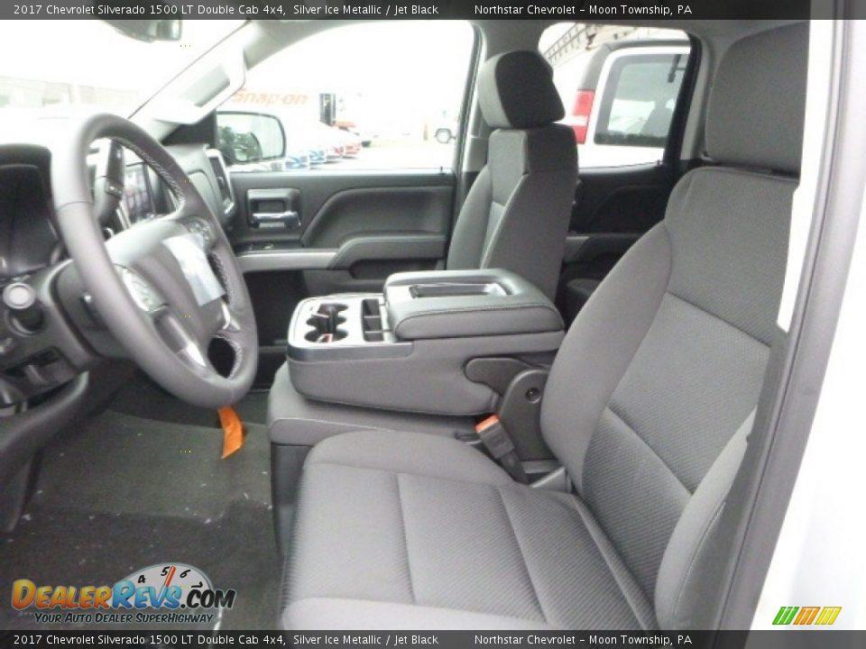 2017 Chevrolet Silverado 1500 LT Double Cab 4x4 Silver Ice Metallic / Jet Black Photo #15
