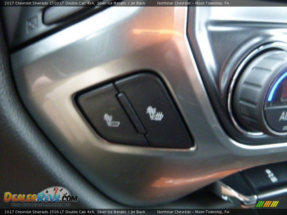 2017 Chevrolet Silverado 1500 LT Double Cab 4x4 Silver Ice Metallic / Jet Black Photo #20