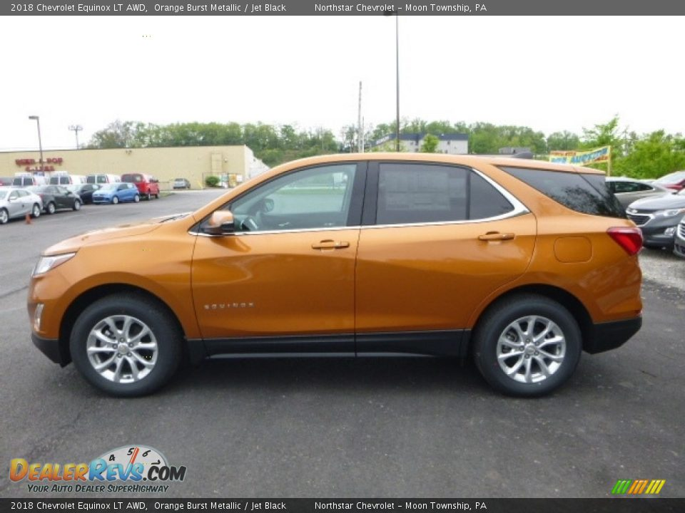 2018 Chevrolet Equinox LT AWD Orange Burst Metallic / Jet Black Photo #2