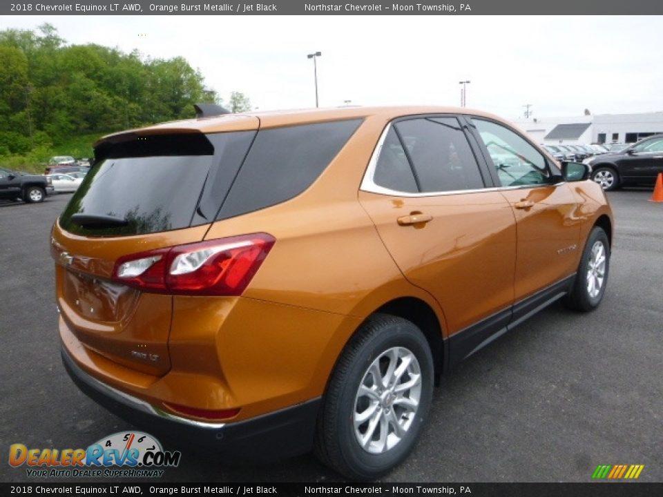 2018 Chevrolet Equinox LT AWD Orange Burst Metallic / Jet Black Photo #5