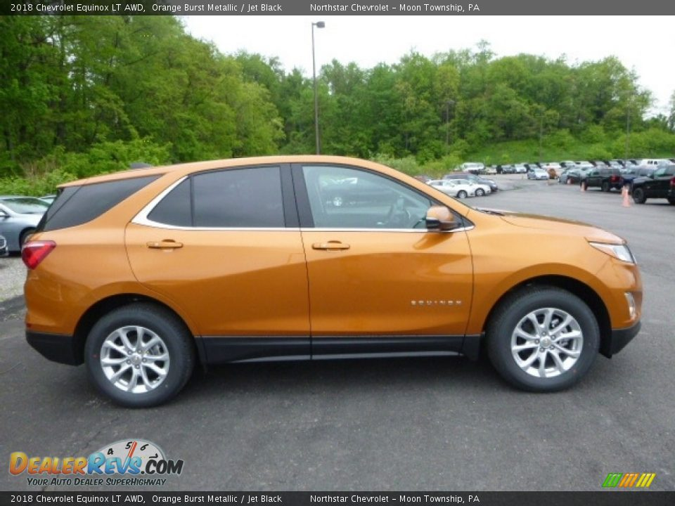 2018 Chevrolet Equinox LT AWD Orange Burst Metallic / Jet Black Photo #6