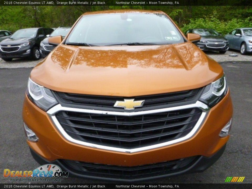 2018 Chevrolet Equinox LT AWD Orange Burst Metallic / Jet Black Photo #8