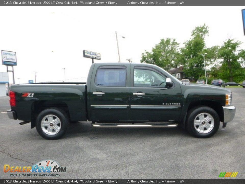 2013 Chevrolet Silverado 1500 LT Crew Cab 4x4 Woodland Green / Ebony Photo #3