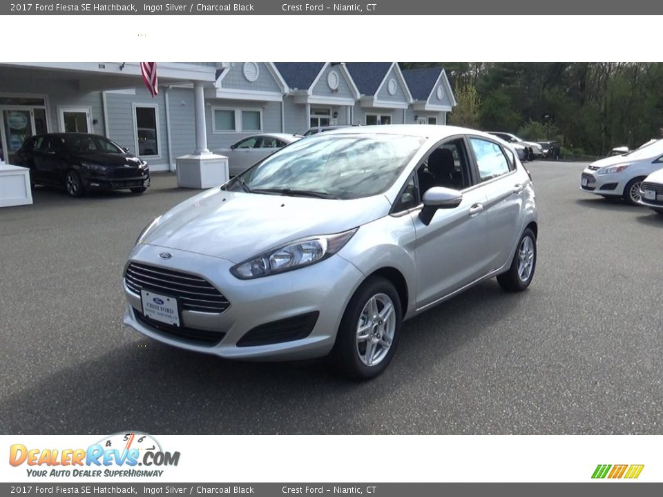 2017 Ford Fiesta SE Hatchback Ingot Silver / Charcoal Black Photo #3