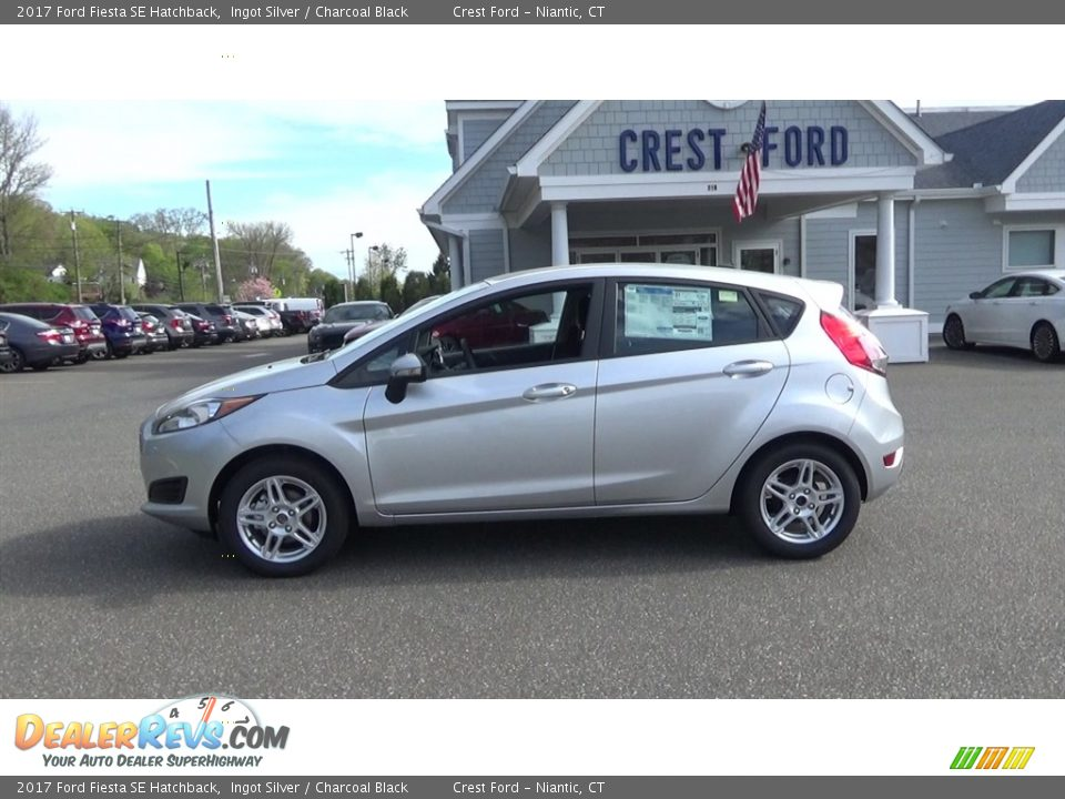 2017 Ford Fiesta SE Hatchback Ingot Silver / Charcoal Black Photo #4