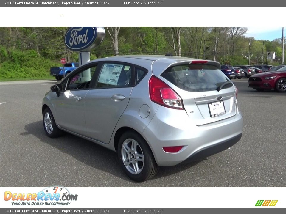 2017 Ford Fiesta SE Hatchback Ingot Silver / Charcoal Black Photo #5