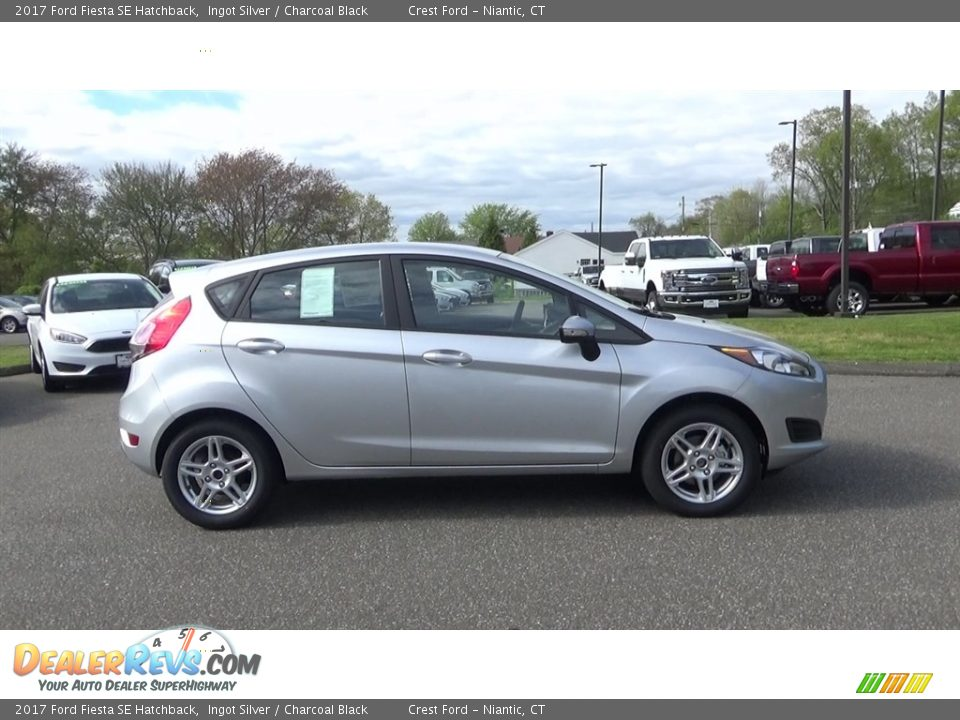 Ingot Silver 2017 Ford Fiesta SE Hatchback Photo #8