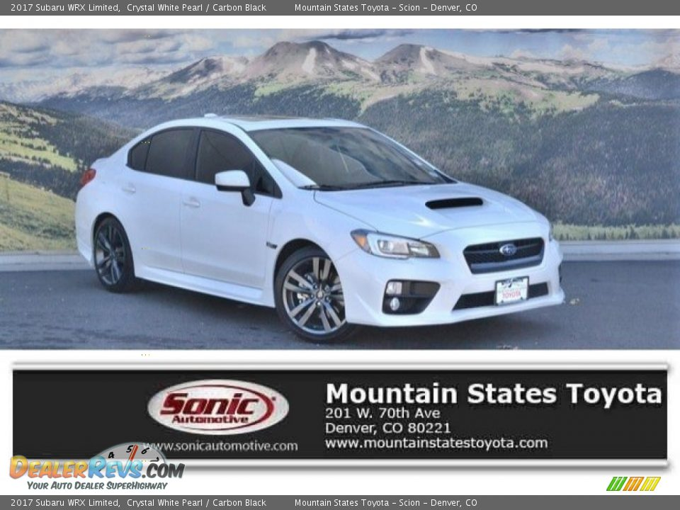 2017 Subaru WRX Limited Crystal White Pearl / Carbon Black Photo #1
