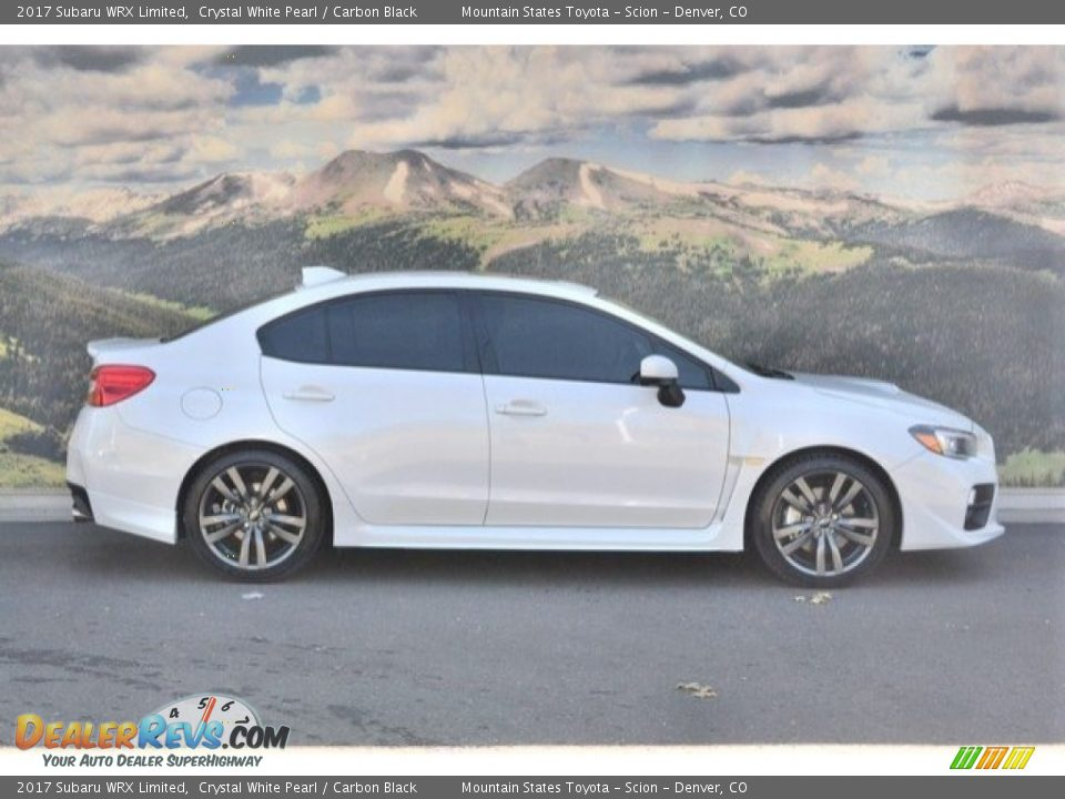 2017 Subaru WRX Limited Crystal White Pearl / Carbon Black Photo #2