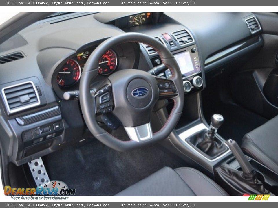 Carbon Black Interior - 2017 Subaru WRX Limited Photo #10