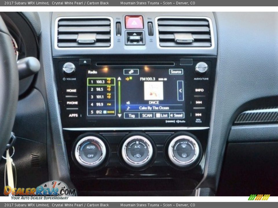 Controls of 2017 Subaru WRX Limited Photo #16