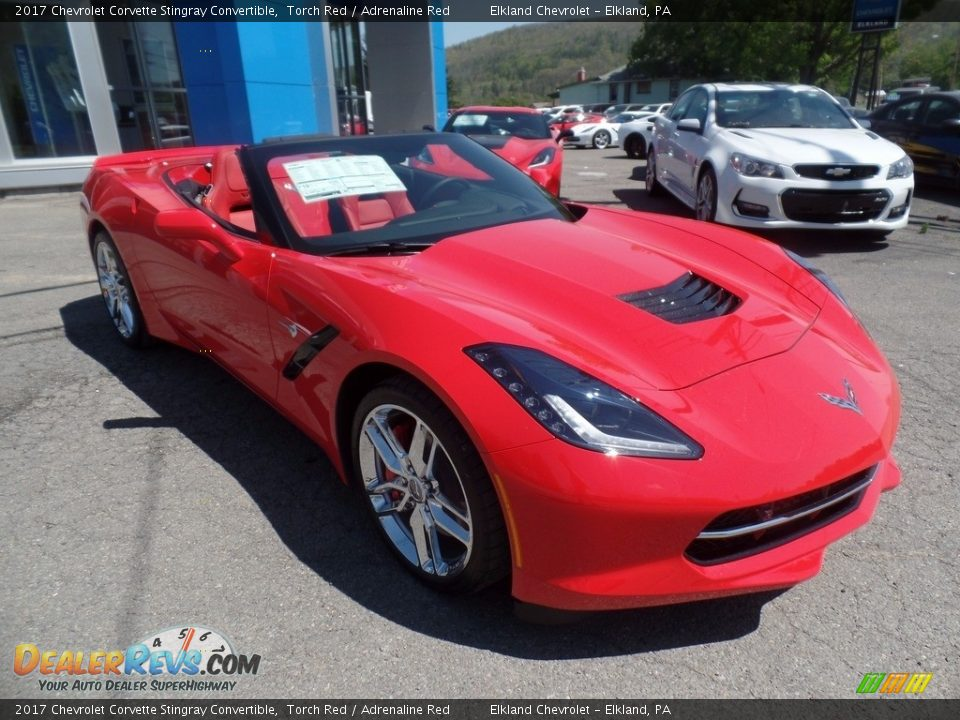 2017 Chevrolet Corvette Stingray Convertible Torch Red / Adrenaline Red Photo #7