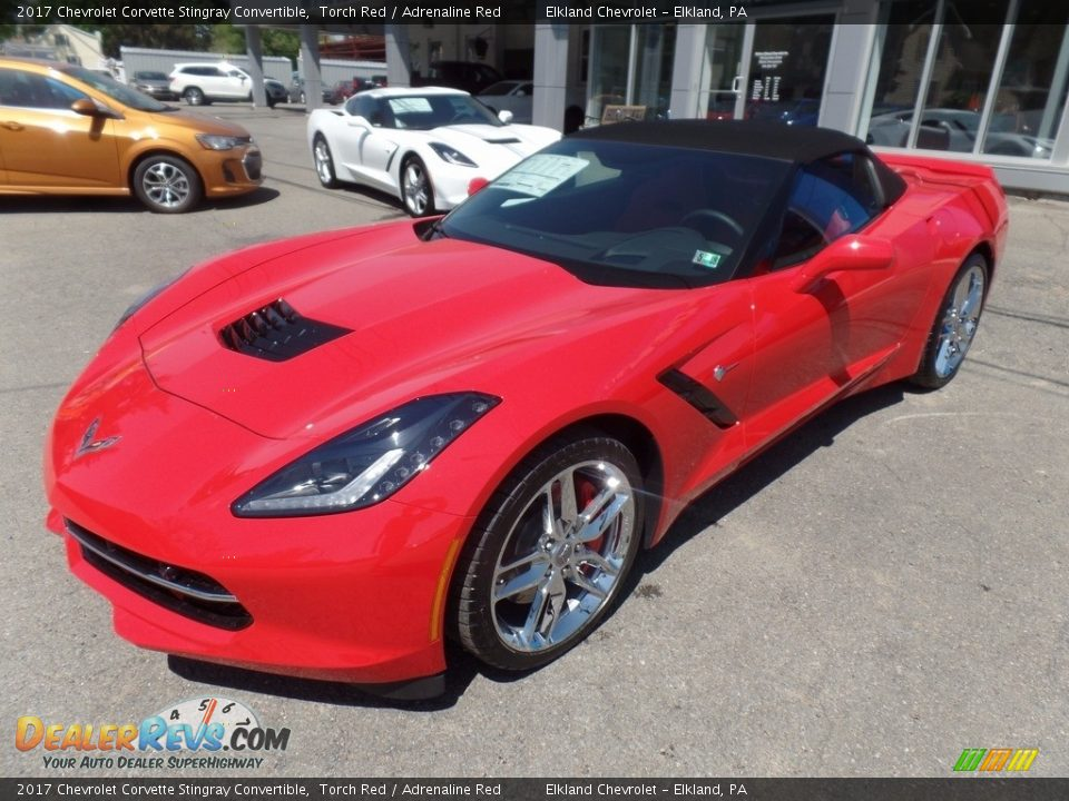 2017 Chevrolet Corvette Stingray Convertible Torch Red / Adrenaline Red Photo #13