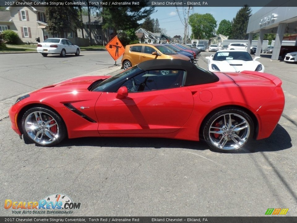 2017 Chevrolet Corvette Stingray Convertible Torch Red / Adrenaline Red Photo #14