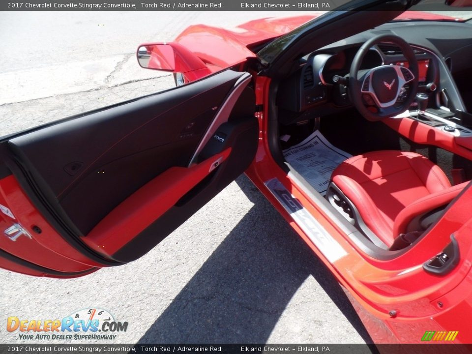 2017 Chevrolet Corvette Stingray Convertible Torch Red / Adrenaline Red Photo #20