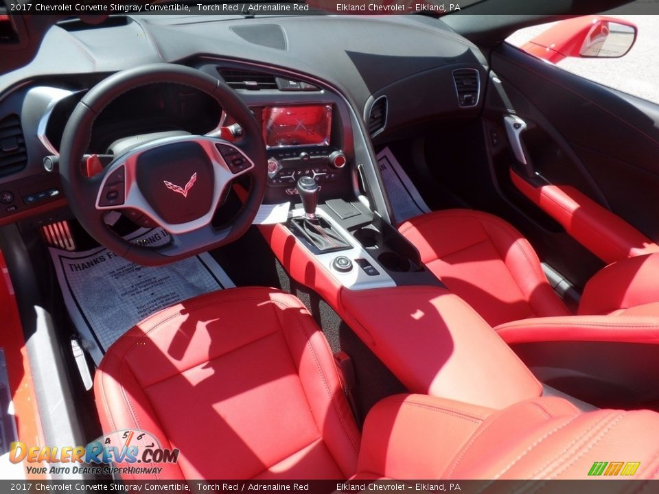 2017 Chevrolet Corvette Stingray Convertible Torch Red / Adrenaline Red Photo #24
