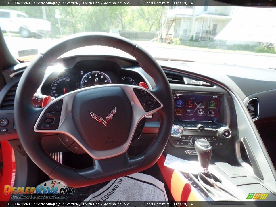 2017 Chevrolet Corvette Stingray Convertible Torch Red / Adrenaline Red Photo #25