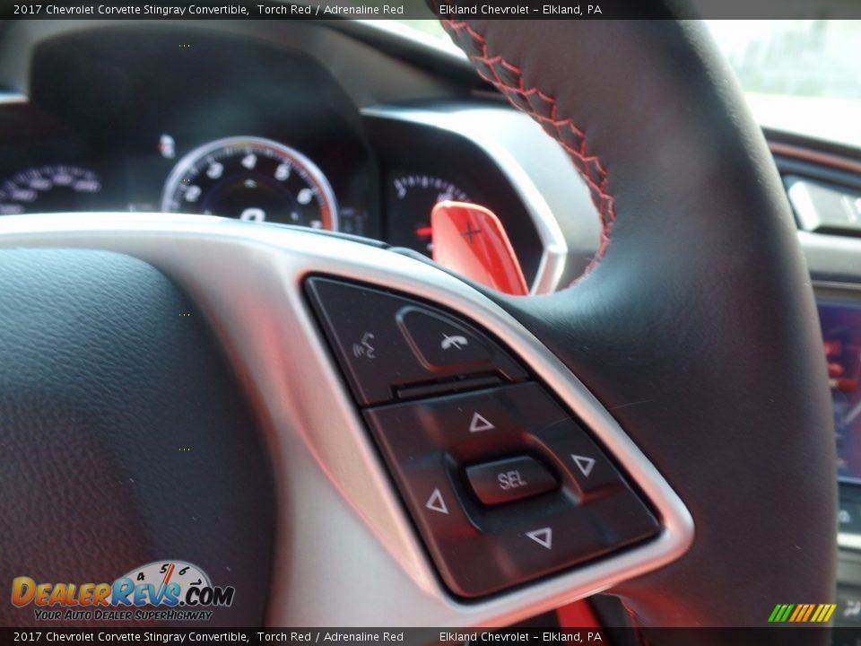 2017 Chevrolet Corvette Stingray Convertible Torch Red / Adrenaline Red Photo #27