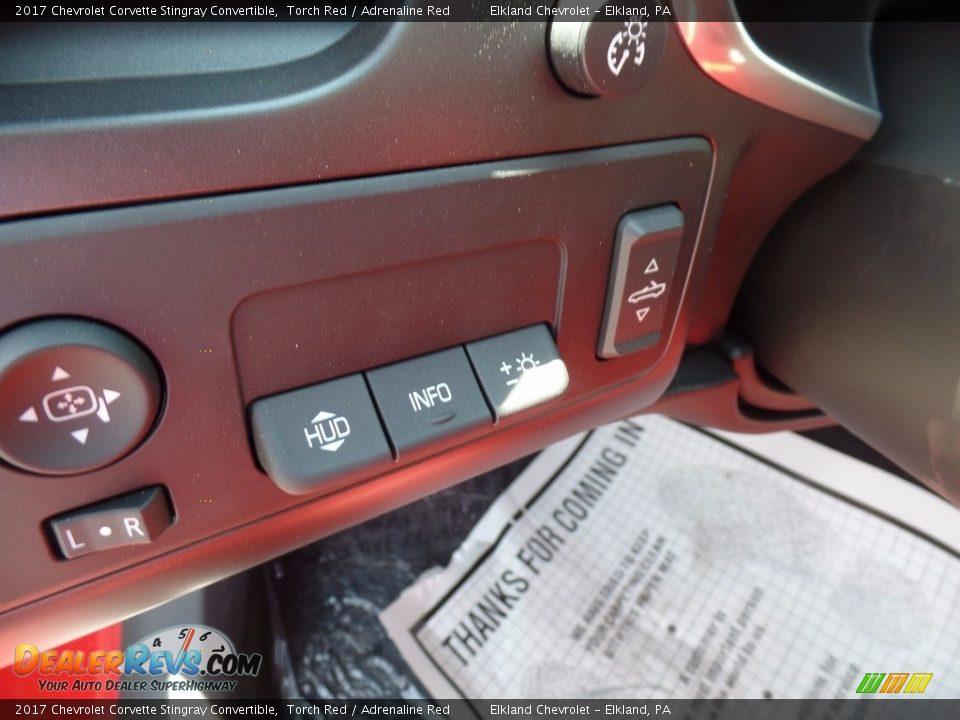 2017 Chevrolet Corvette Stingray Convertible Torch Red / Adrenaline Red Photo #29