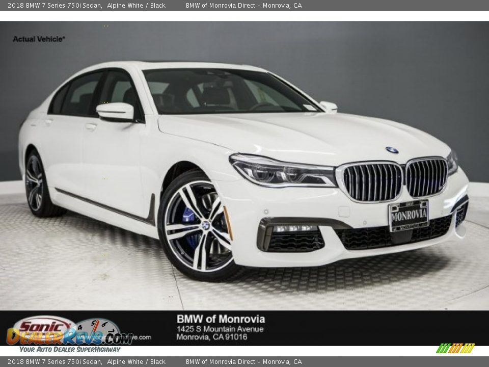 2018 BMW 7 Series 750i Sedan Alpine White / Black Photo #1