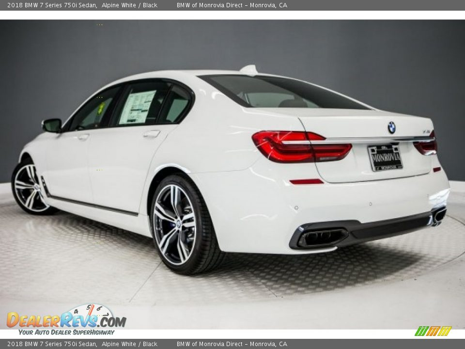2018 BMW 7 Series 750i Sedan Alpine White / Black Photo #3