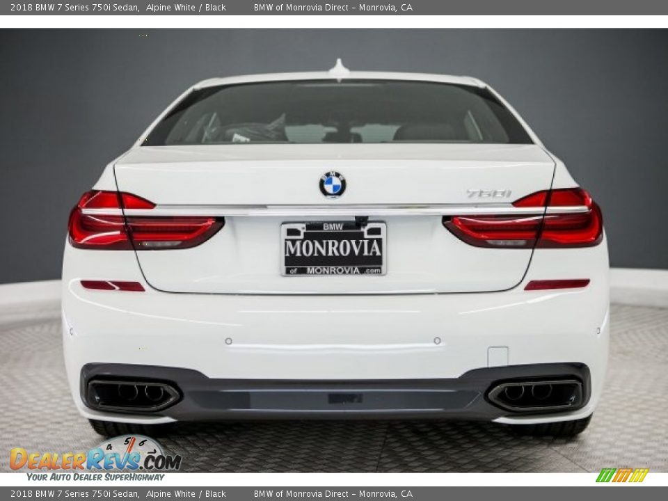 2018 BMW 7 Series 750i Sedan Alpine White / Black Photo #4