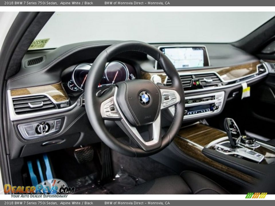 2018 BMW 7 Series 750i Sedan Alpine White / Black Photo #5