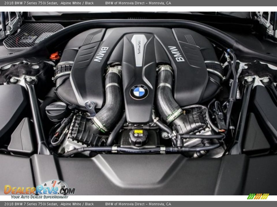 2018 BMW 7 Series 750i Sedan 4.4 Liter TwinPower Turbocharged DOHC 32-Valve VVT V8 Engine Photo #8