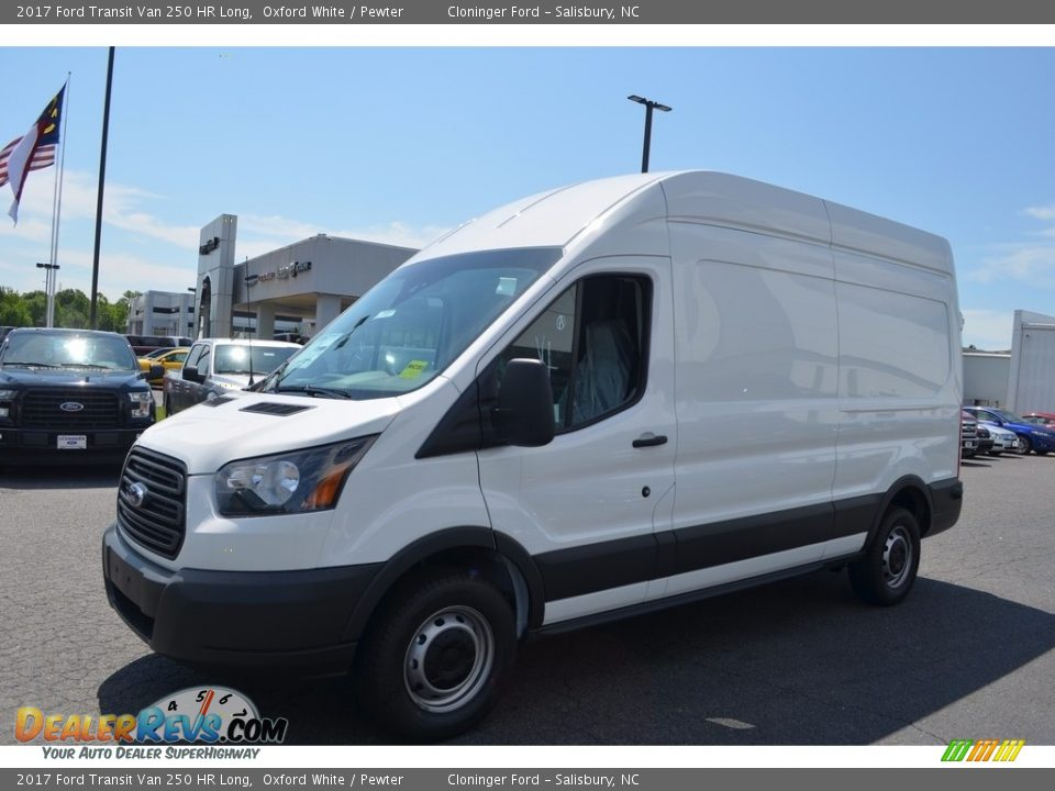 2017 Ford Transit Van 250 HR Long Oxford White / Pewter Photo #3