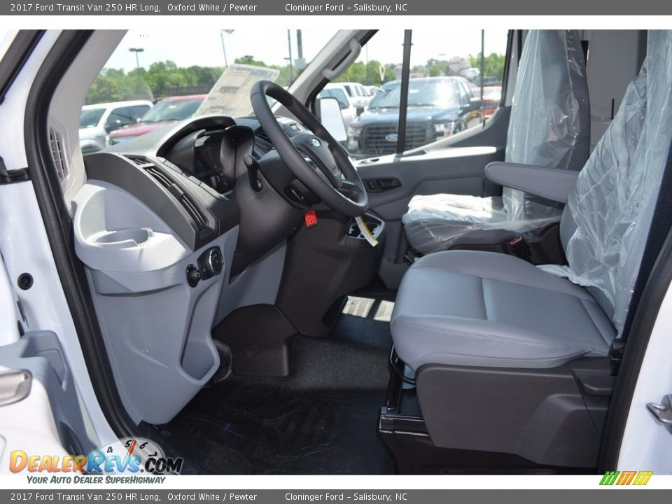 Pewter Interior - 2017 Ford Transit Van 250 HR Long Photo #6