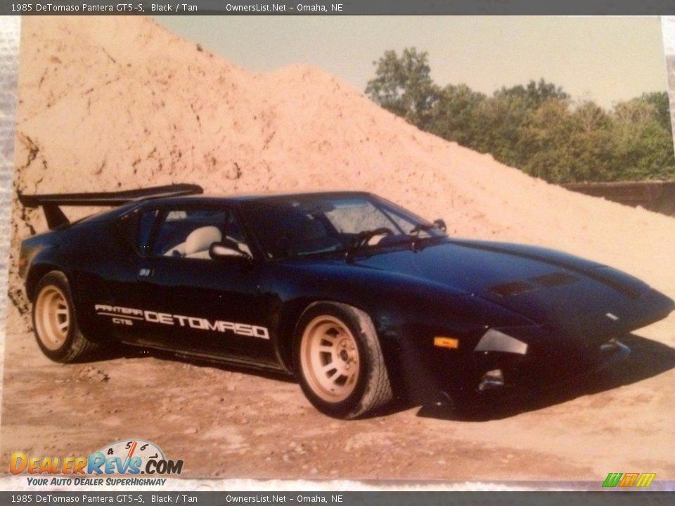 1985 DeTomaso Pantera GT5-S Black / Tan Photo #2