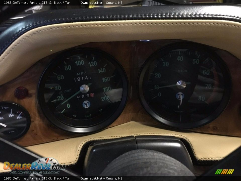 1985 DeTomaso Pantera GT5-S Gauges Photo #11