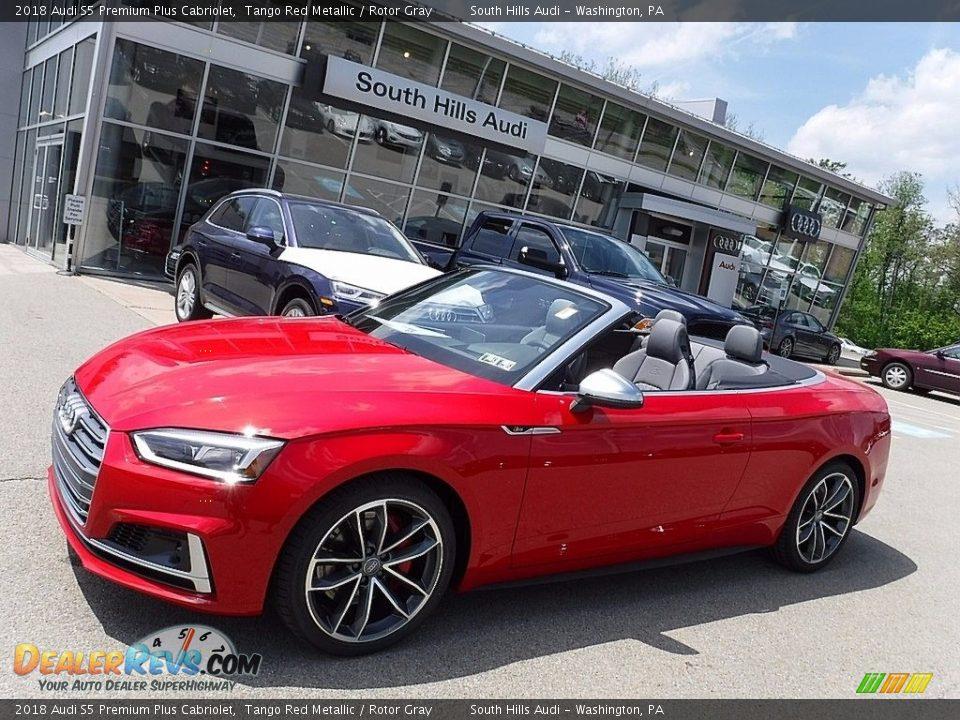 2018 Audi S5 Premium Plus Cabriolet Tango Red Metallic / Rotor Gray Photo #1