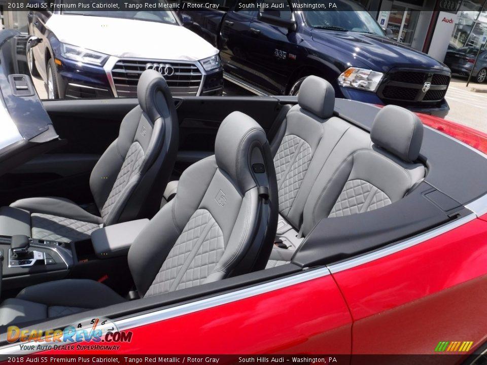 2018 Audi S5 Premium Plus Cabriolet Tango Red Metallic / Rotor Gray Photo #3