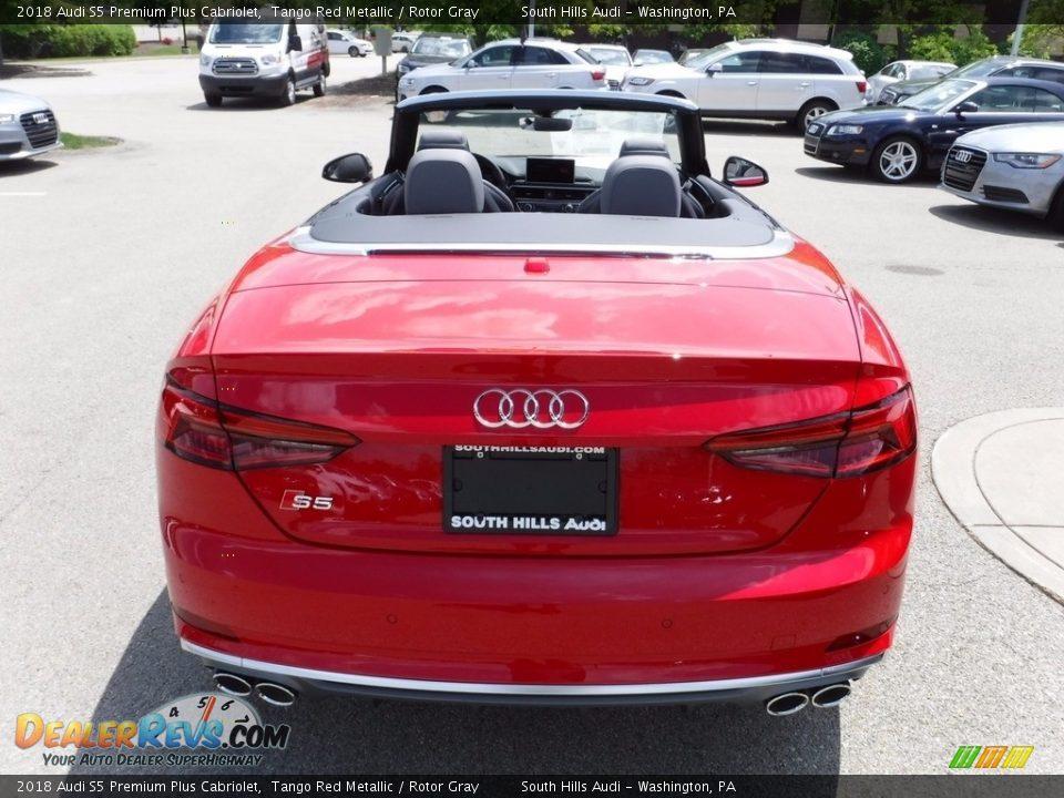2018 Audi S5 Premium Plus Cabriolet Tango Red Metallic / Rotor Gray Photo #6