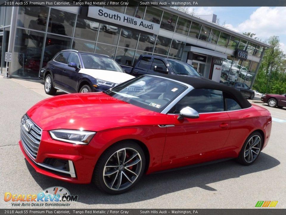 2018 Audi S5 Premium Plus Cabriolet Tango Red Metallic / Rotor Gray Photo #8